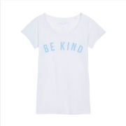 White & Blue BE KIND T-Shirt - In Aid of Mind Charity.