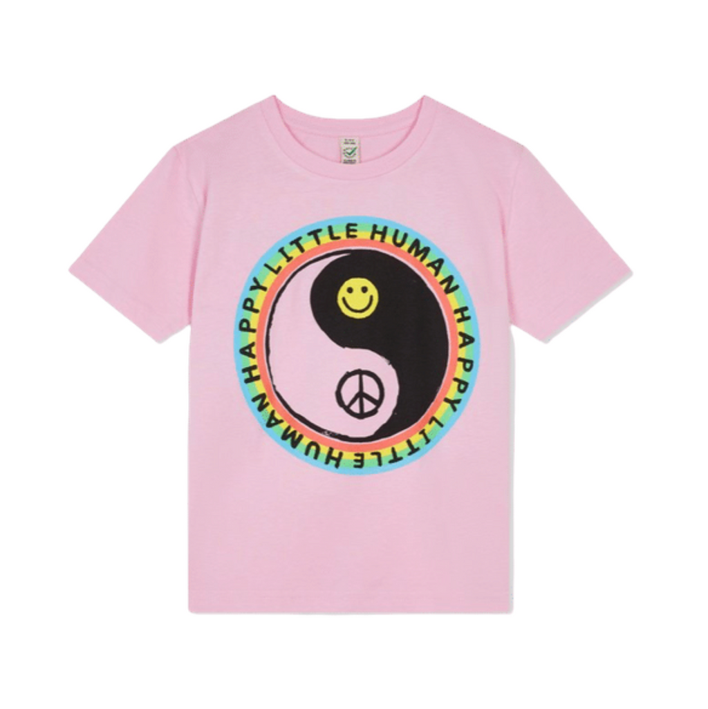 Pink HAPPY LITTLE HUMAN™ Tee In Aid of YOUNG Minds Charity