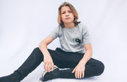 Kids Grey & Black Happy Human T-shirt