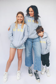 Blue & Yellow 'Be Kind' Hoodie in Aid of Young Minds.