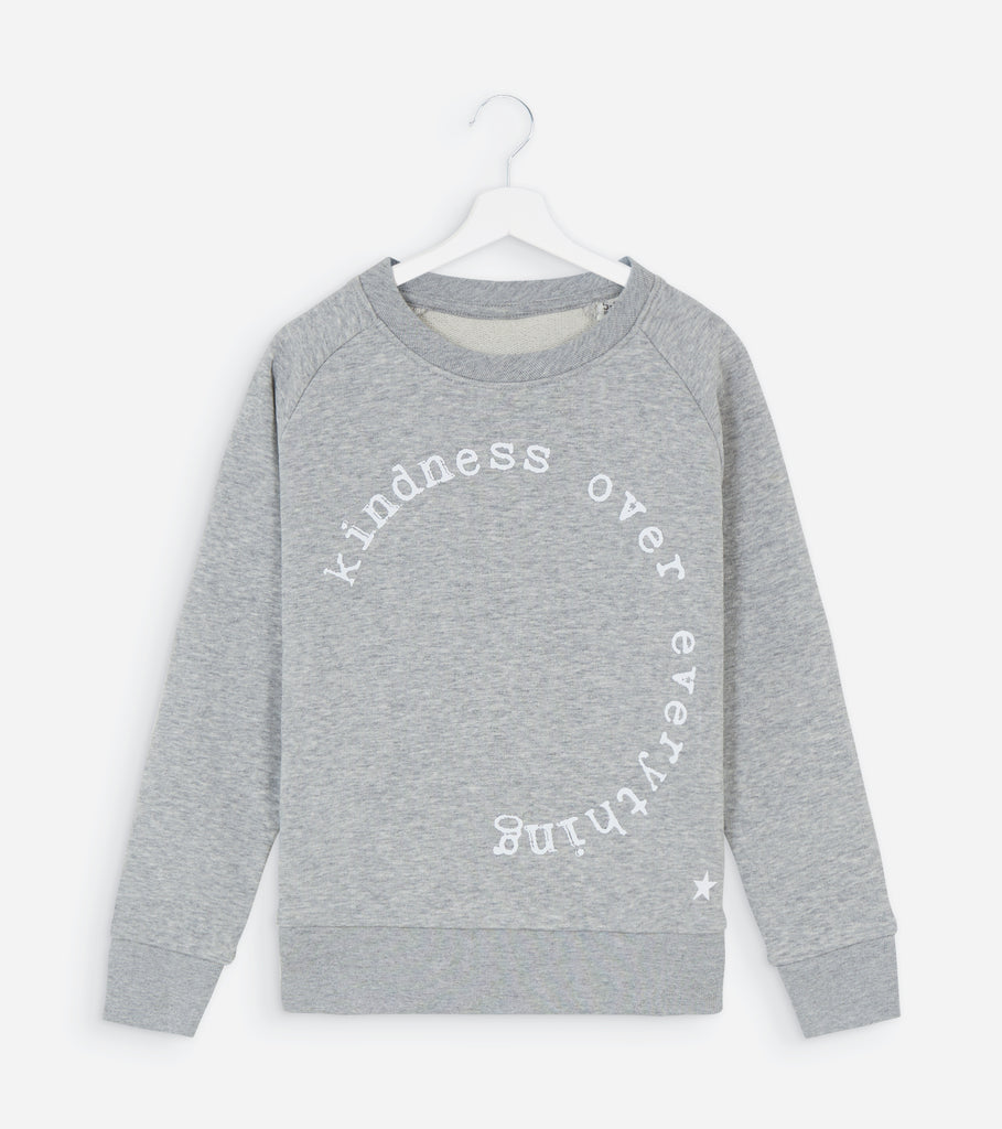 Kids Grey & White KINDNESS OVER EVERYTHING Glow In The Dark Sweatshirt for the NSPCC