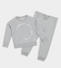 Kids Grey & White SMITH WEBB™ Logo Joggers
