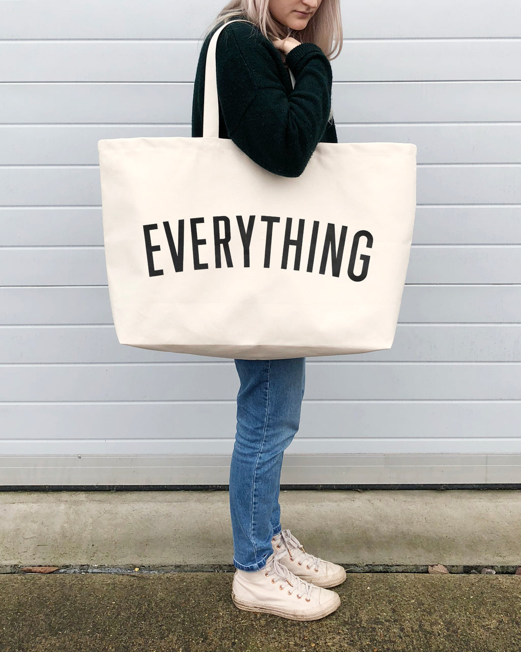 Cream & Black EVERYTHING - Really Big Bag by Alphabet Bags
