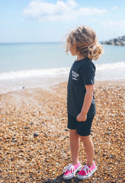 Kids Dark Grey & White BE KIND™ tee in aid of The Anna Freud Charity