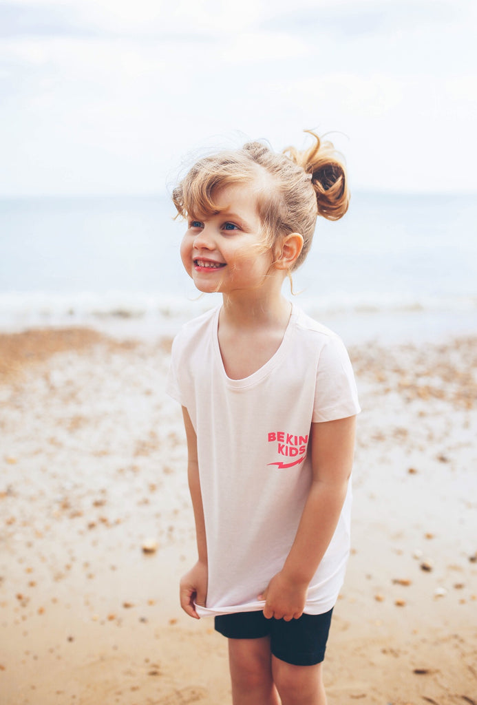 Kids Pink & Dark Pink BE KIND™ tee in aid of The Anna Freud Charity