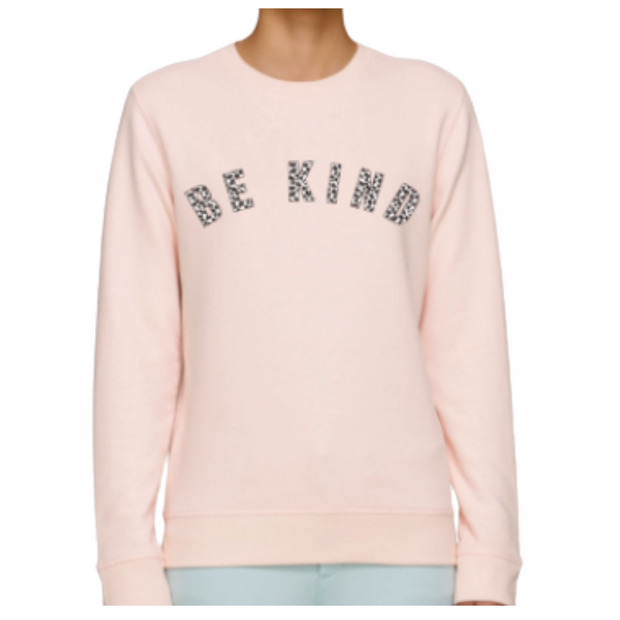 Pink & Leopard 'Be Kind' Sweatshirt in Aid of Anxiety Uk.