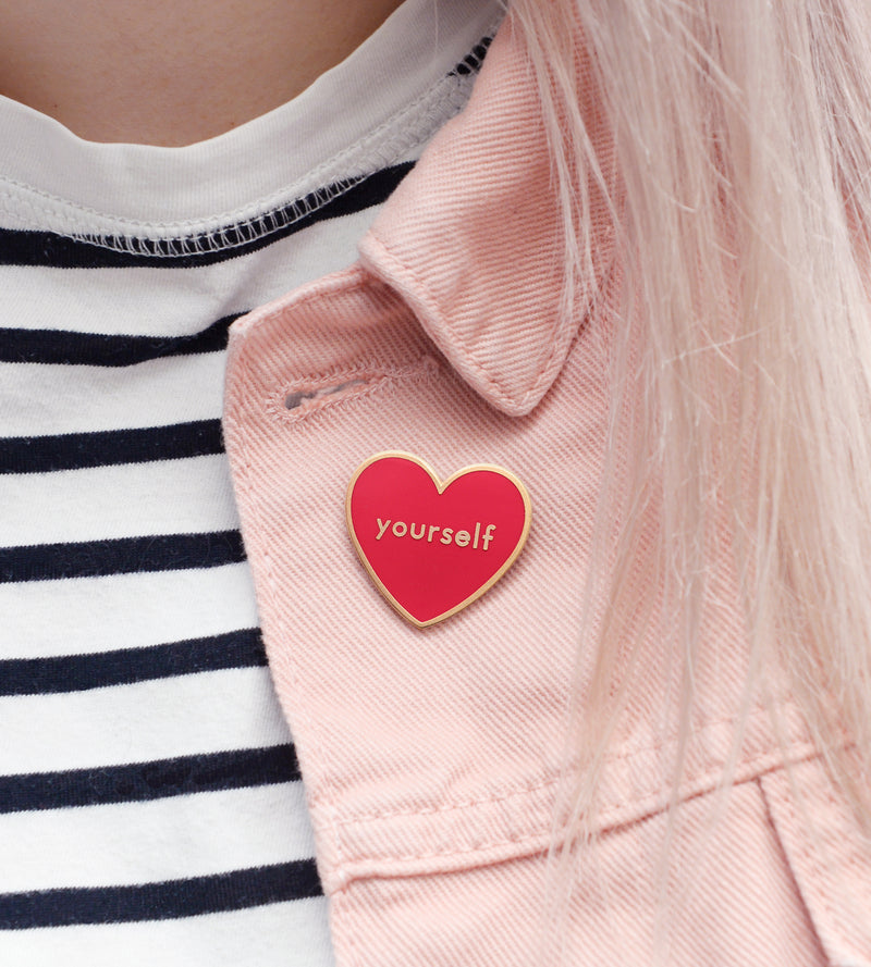 Red & Gold LOVE YOURSELF - Enamel Pin