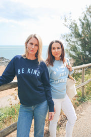 Unisex Navy & Baby Blue BE KIND™ Unisex Sweatshirt for Vetlife Charity