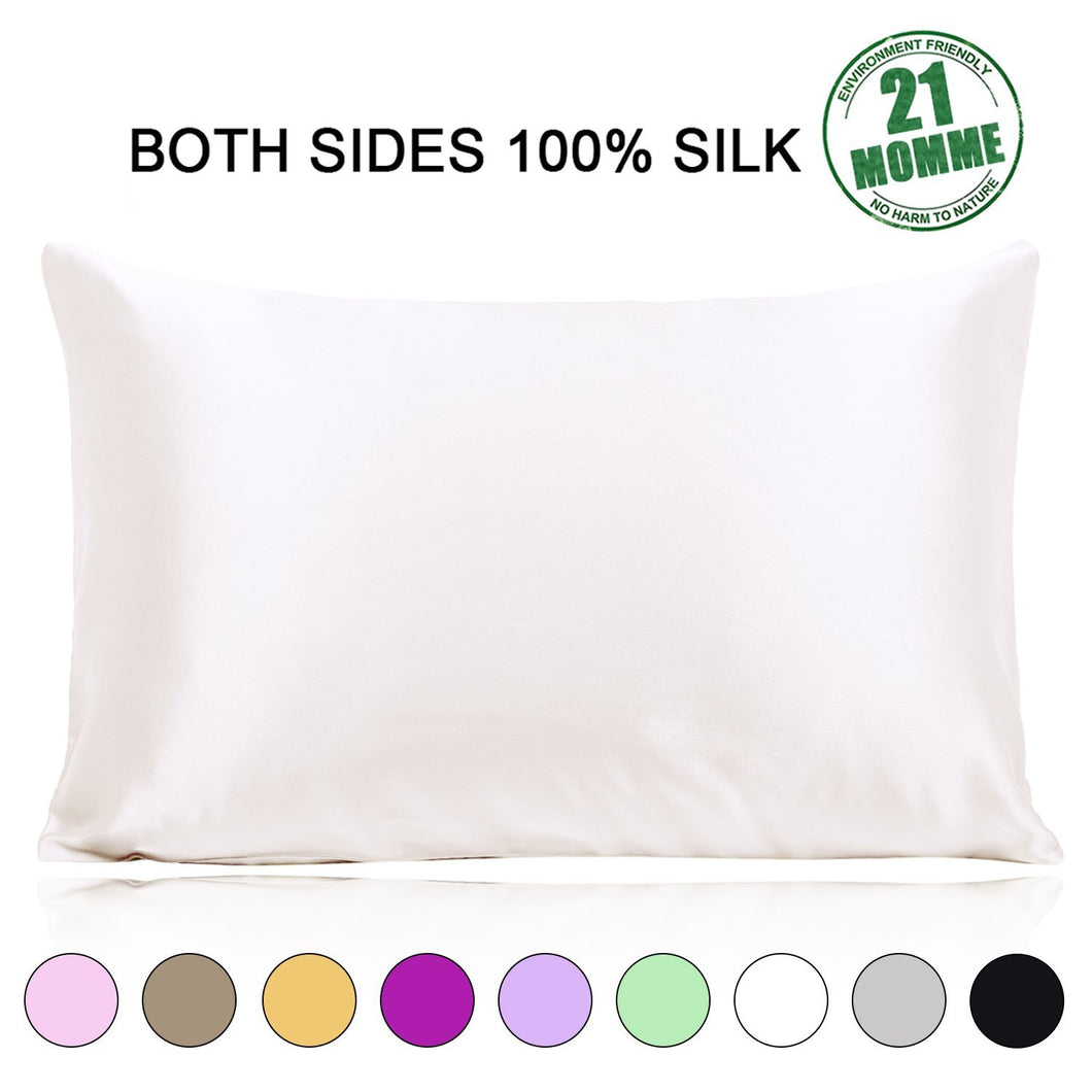 Ravmix 100 Silk Pillowcase Both Sides 21 Momme 600 Thread