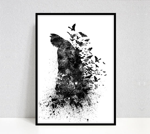 Batman print poster wall art, DC comics print, Batman poster, Justice league print, Home decor, Gift for him - 19