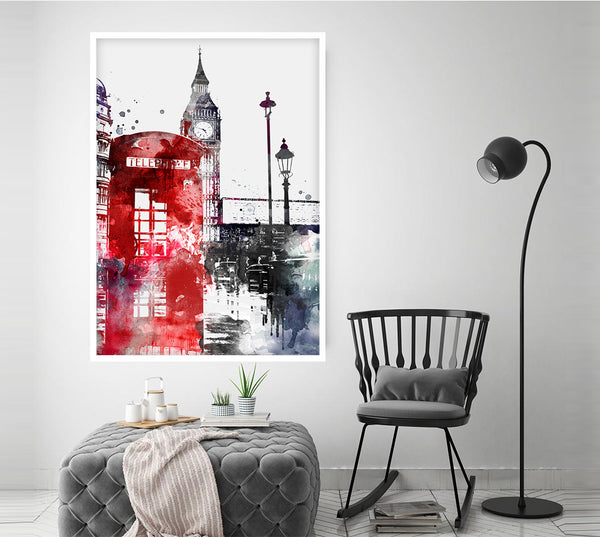 London watercolor print, watercolor poster, London wall art, London travel, city poster, watercolor art, home decor - 20