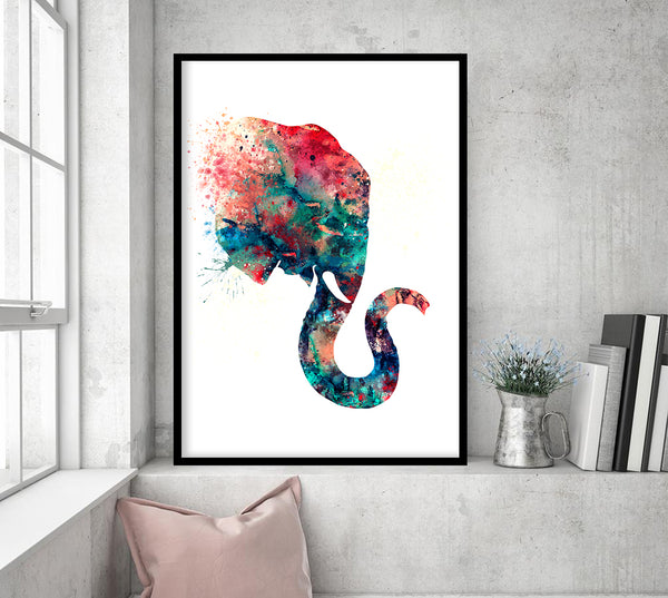 Elephant Art Elephant Watercolor Painting Boy Nursery Decor Elephant Nursery Art Print Elephant Wall Art Elephant Painting 74