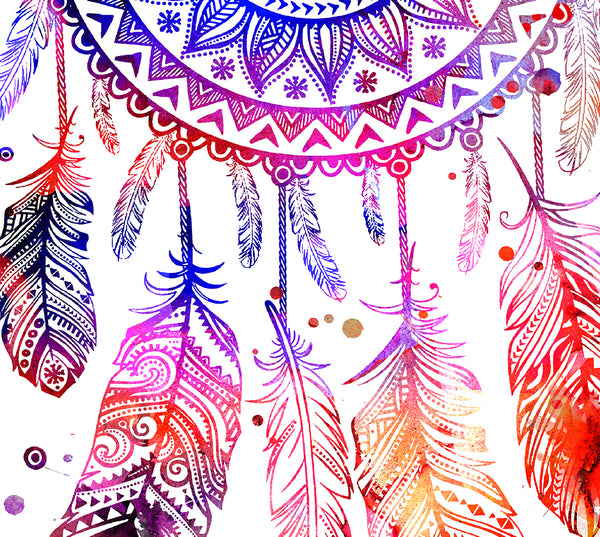 Dream Catcher Watercolor Print, Children's Wall Art, Home Decor, dream catcher watercolor, watercolor painting,dream catcher poster - 83