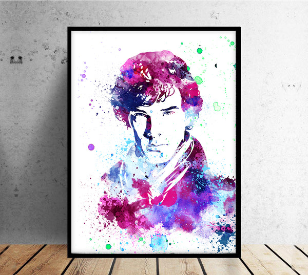 Sketch Drawing of Benedict Cumberbatch Sherlock - Sherlock Inspired - Movie Art Poster - 13