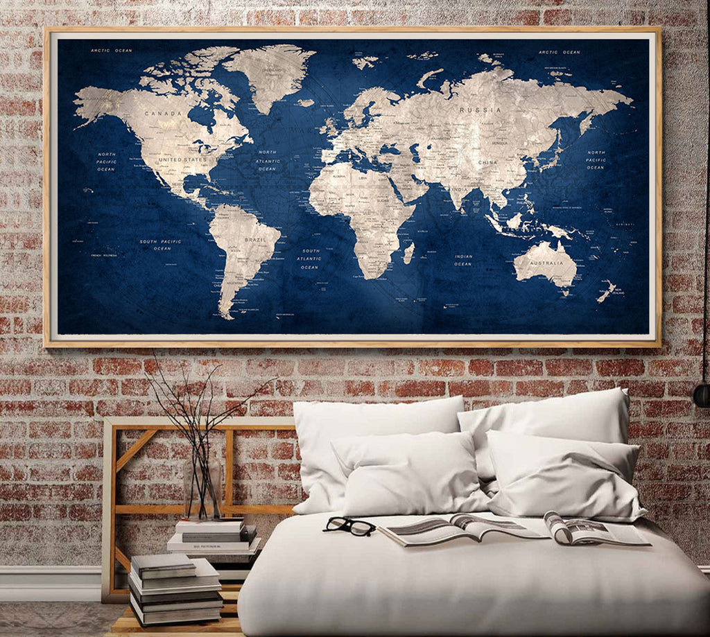 Push pin world map wallartprints large world map wall artworld map posterworld map decalworld map large printworld map printworld map print world map artworld map l152 gumiabroncs Image collections