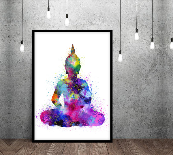 Buddha Wall Art Watercolor Buddha Poster. Buddha Print Buddha Decor Buddha Art. Zen Wall Art Yoga Print. Meditation Art. Buddha Illustration -33