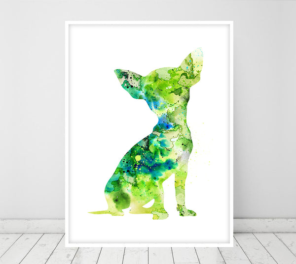 Chihuahua Dog Watercolor Dog Print Chihuahua Poster Gift Pet Dog Love Puppy Friend Animal Dog Poster Pet Decor Animal Art Dog Art - 76