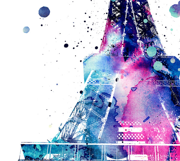 eiffel tower Decor Eiffel Tower Print eiffel tower art paris art paris print Watercolor Decor paris wall art - 101