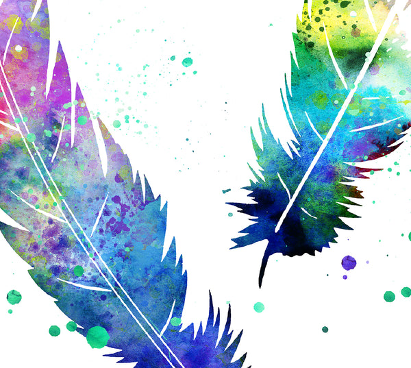 Feather Watercolor Print, Wall Art Print, Bohemian Feather Art, Watercolor Feather Wall Art, Print, Feathers Art Prints, Long Feathers -348