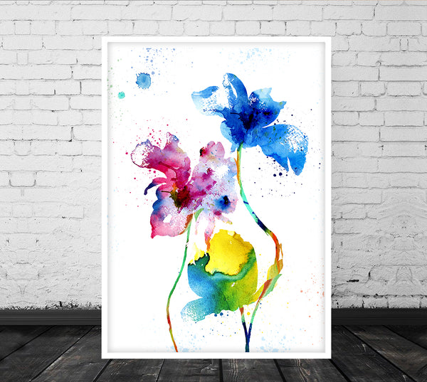 857f07f29429c Watercolor Wall Art,Botanical Artwork Print, Floral Art, Flower Art Prints,  Abstract Floral Art, Watercolour Flowers, Watercolor Prints