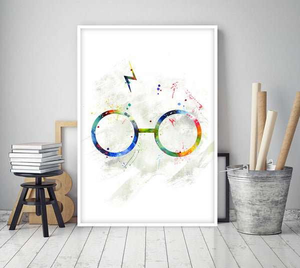 Harry Potter print, Harry Potter watercolor art, Harry Potter poster, Harry Potter wall art - 324