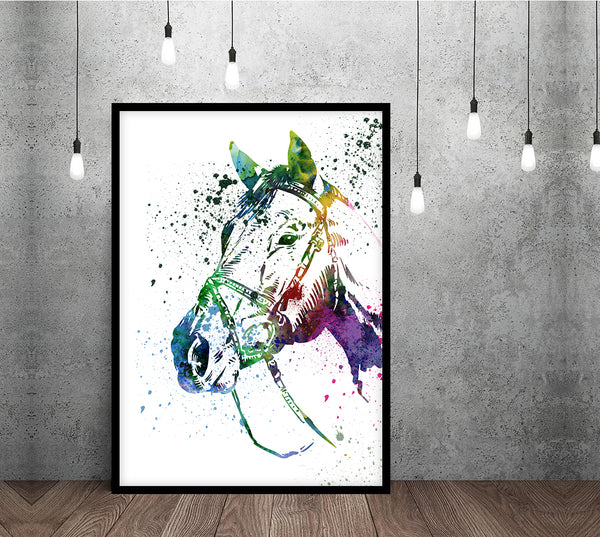 Horse Painting, Horse Print, Horse Wall Art, Nursery Wall Art, Horse Watercolor, Large Wall Art, Poster Art, Girls Room Decor - 49