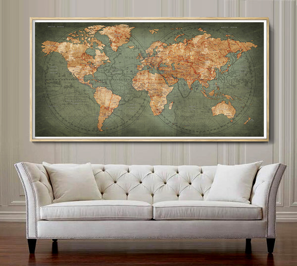 Travel Map Painting
