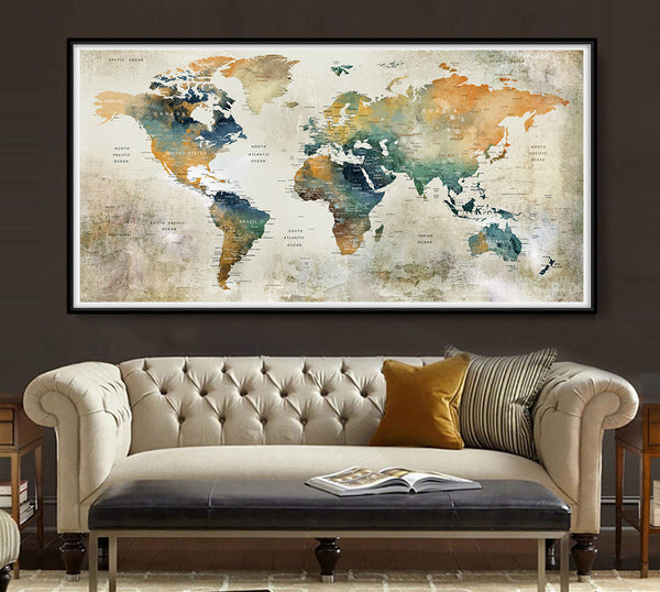 large Map Poster