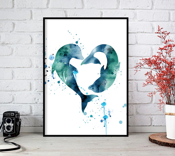 watercolor wall art