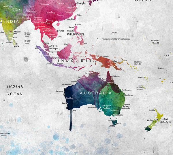 World map poster large world map world map wall art watercolor watercolor map print gumiabroncs Images