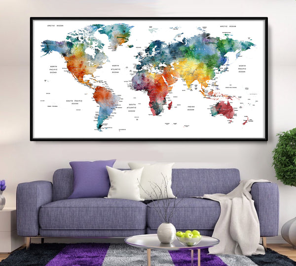 Travel World Map Poster