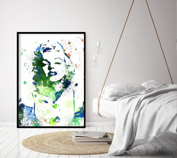 Marilyn Monroe Print Watercolor illustrations Wall Art Poster Wall Decor Art Home Decor Wall Hanging Item -12