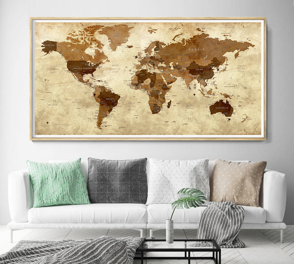 old large world map
