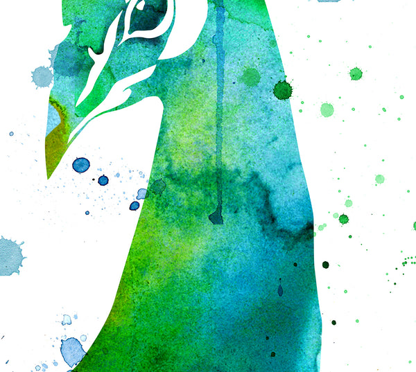 Peacock Watercolor Art