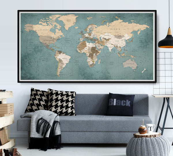 travel Vintage world map