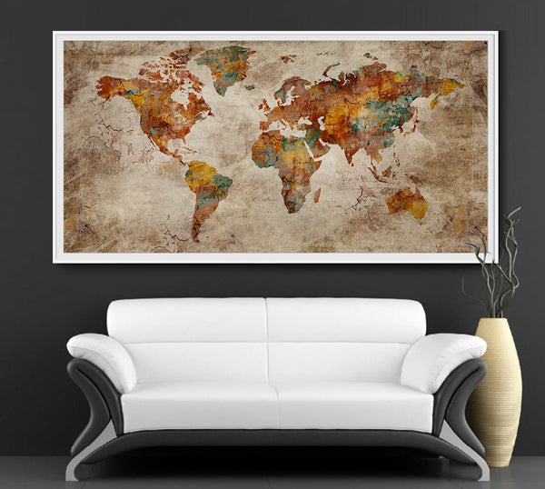 Rustic Vintage Travel Map