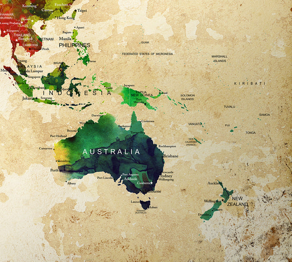 Beautiful world map poster watercolor world map wall art print beautiful world map poster watercolor world map wall art print world map world gumiabroncs Image collections