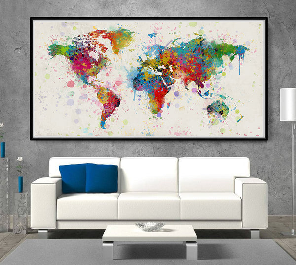 watercolor world map gift