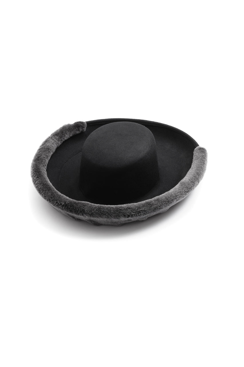 Fur Brim Hat Black