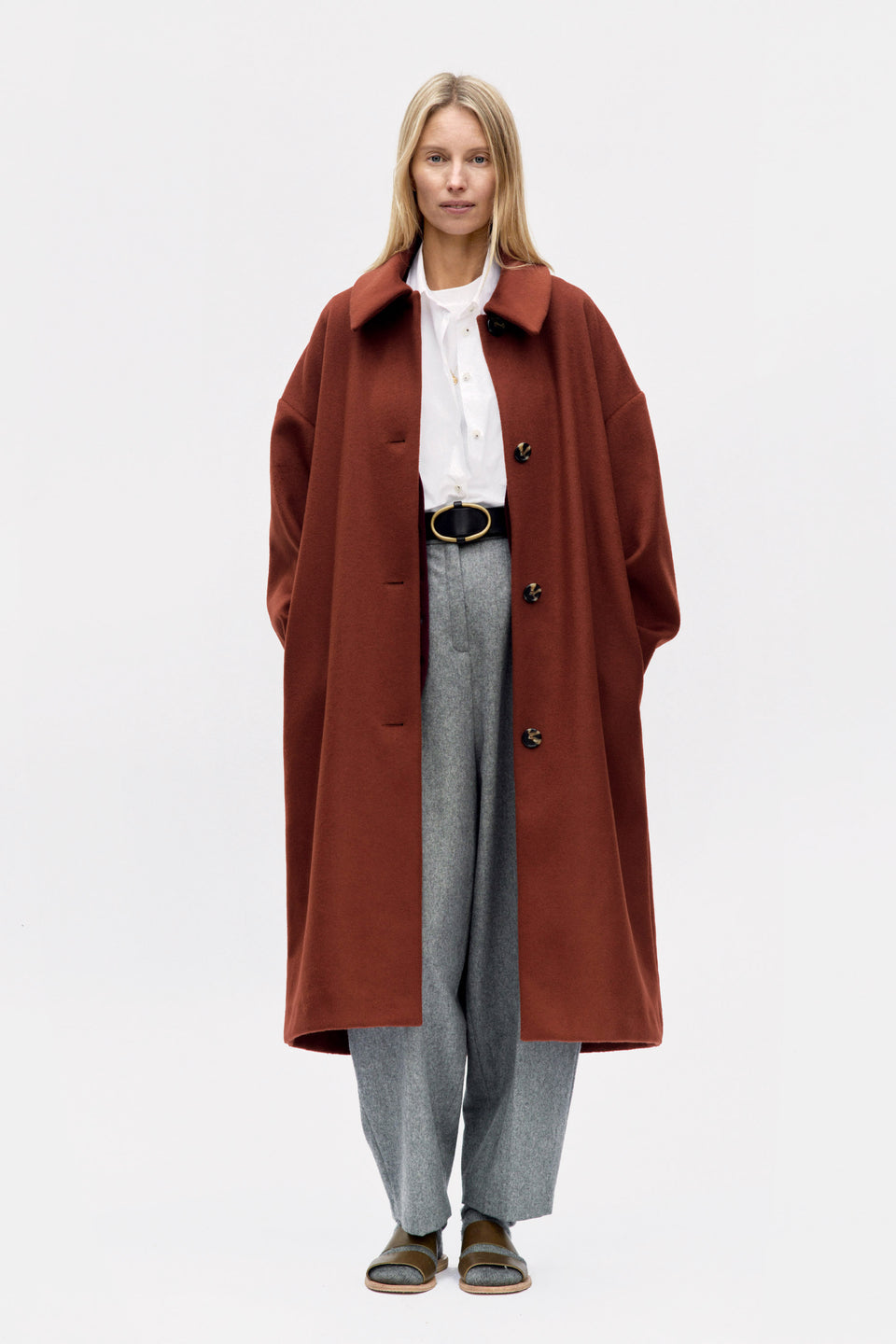 Bunko Coat Rust Wool