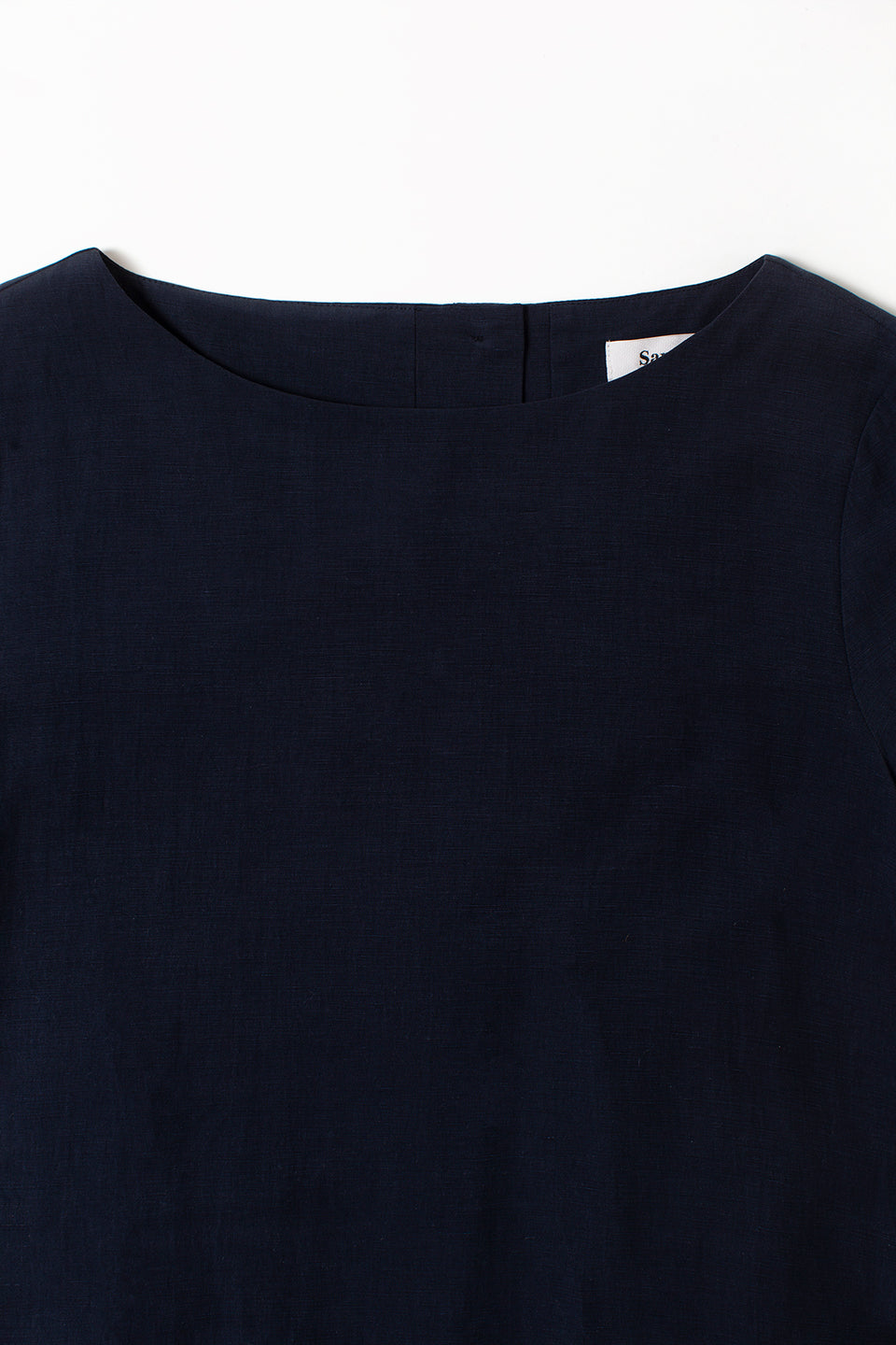 Samuji Finch Dress Matt Silk Navy detail