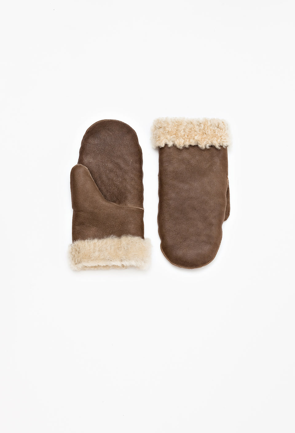 Leather Mittens Camel