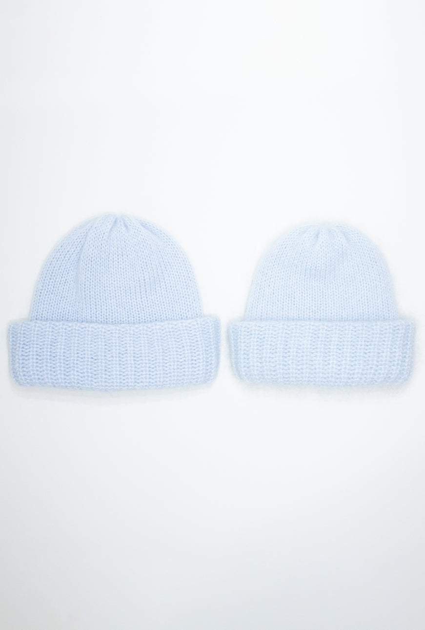 Chunky Beanie Mini Light Blue