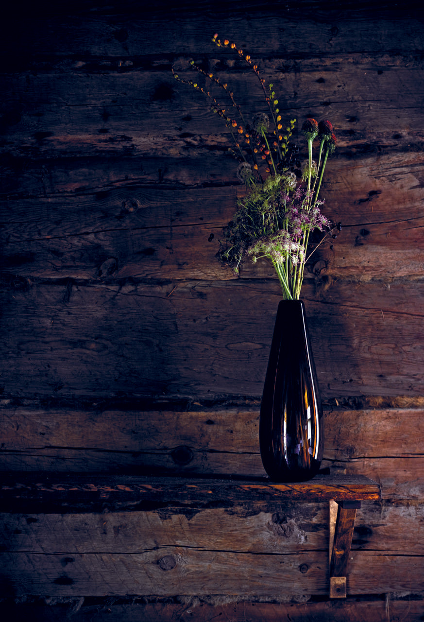 Studio Second: Bottle Glass Vase Brown
