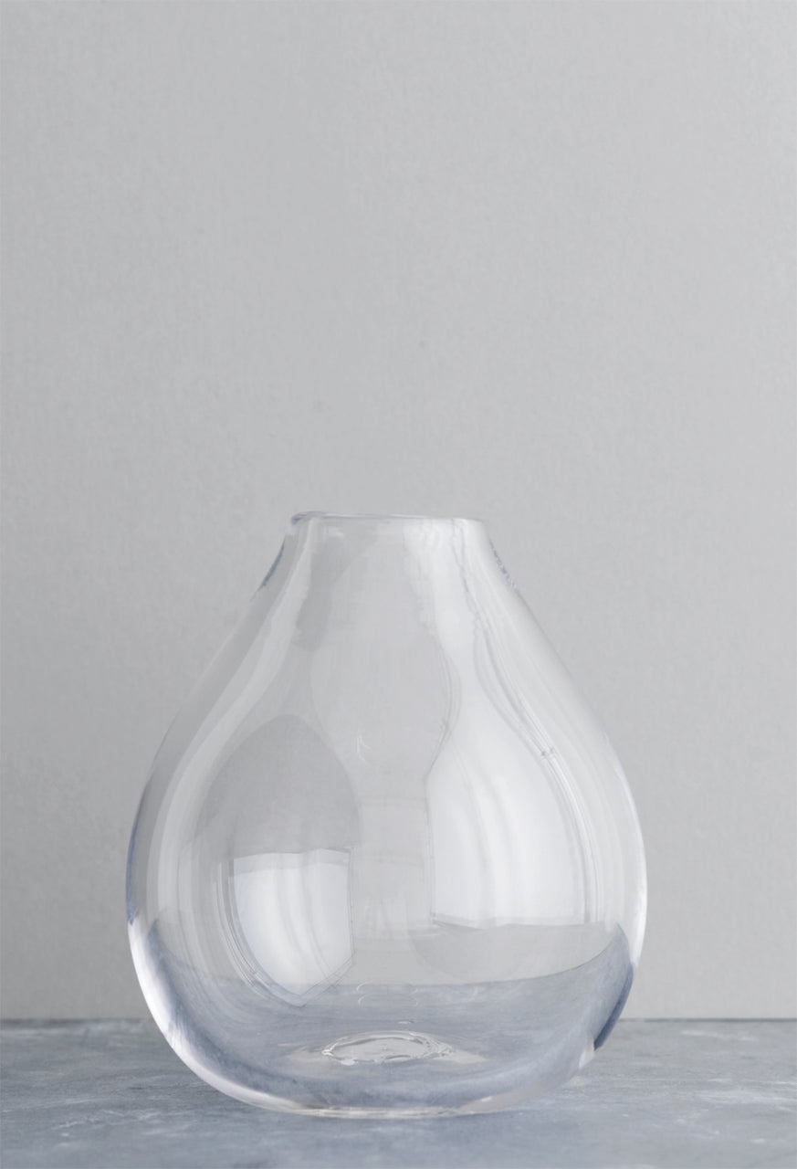 Studio Second: Drop Glass Vase Clear
