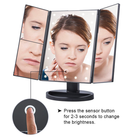 Person - HD LED light makeup mirror