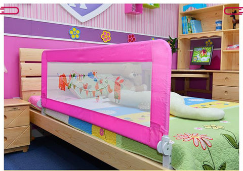 baby bed rail pink