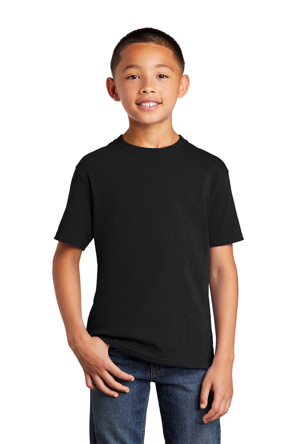 Port & Company® Youth Core Cotton Tee :  Black & Greys