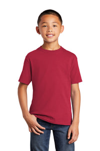Port & Company® Youth Core Cotton Tee : Reds & Pinks