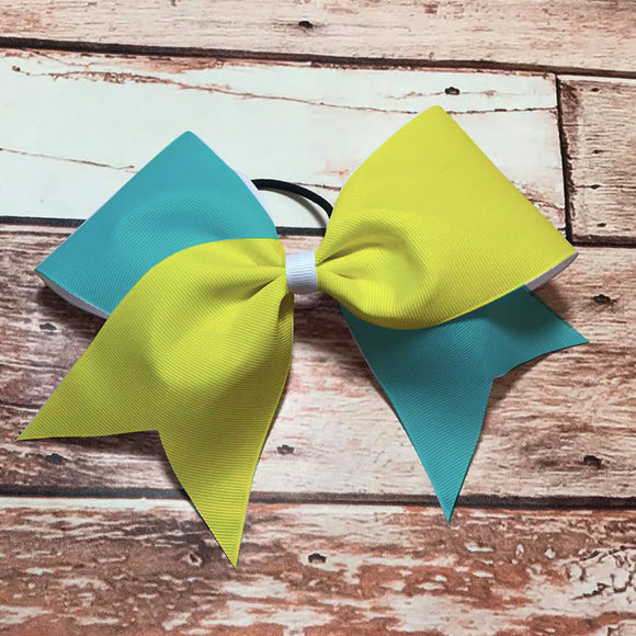 Teal & Yellow Bow